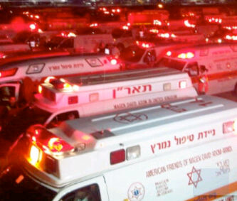 Tel Aviv El Al emergency landing ambulances