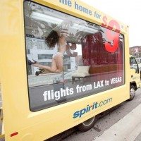 Spirit Airlines stripper truck