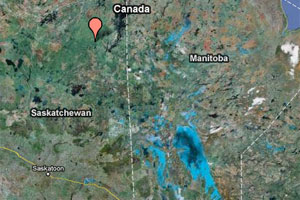 Saskatchewan crash map