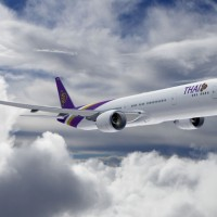 Rendering of a new Thai Airways Boeing 777-300ER (Image courtesy of Boeing)