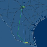 Flight path of American Airlines Flight 1178