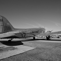 An American Airlines DC-3 at La Guardia Airport. (Photo by Matthew Smith)