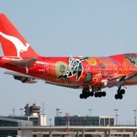 Photo of the Day: The Qantas 747-400ER known as &quot;Wunala Dreaming&quot; lands at Dallas Fort Worth