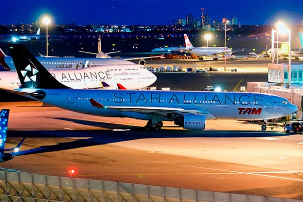 Looks like a Star Alliance party at JFK's Terminal 4