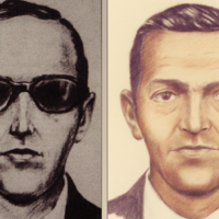 Artist sketches of D.B. Cooper, who vanished in 1971 with $200,000 in stolen cash.