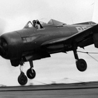 A Fireball, similar to the FR-1 that made the first jet landing on an aircraft carrier.