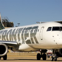 Frontier Embraer E-Jet at Houston Hobby Airport