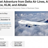 Screenshot of Groupon's Delta Round-the-World deal