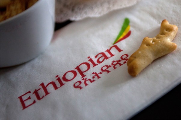 Airplane cracker in Ethiopian Airlines business class