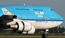 A KLM 747, similar to the aircraft involved in the Flight 867 incident.
