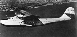 Martin M-130 flying boat, similar to the one operated by Pan Am that crashed in 1943.