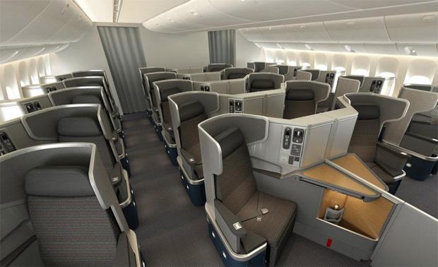 Photos american airlines reveals boeing 777 300er for Delta comfort plus vs cabina principale
