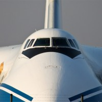 Photo of the Day: A Volga-Dnepr Antonov An-124 RA-82078 staring at us from Leipzig. Photo by Sebastian G.