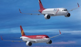 Avianca and Taca A320s.