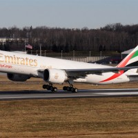 Early rotation for this Emirates SkyCargo Boeing 777 Freighter taking off on a 70-mile hop from Stewart Airport to JFK. Photo by Gordon Gebert Jr.