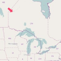 Map of North Spirit Lake Airport plane crash Ontario Canada