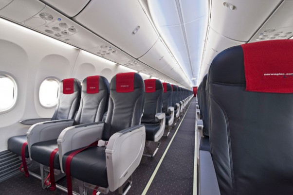 Boeing Sky Interior on a new Norwegian 737-800