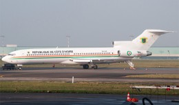 A rare visitor to Brussels, an Ivory Coast Air Force Boeing 727-200 (TU-VAO