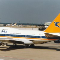 A South African Airways Boeing 747SP ZS-SPE on the ground at Frankfurt