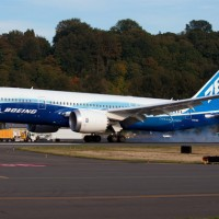 Dream Tour 787 N787BX seen landing at Boeing Field shortly after its repaint into full Boeing house colors