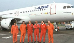Airbus A320 first flight team