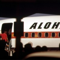 Passengers board an Aloha Airlines jet in 1973.