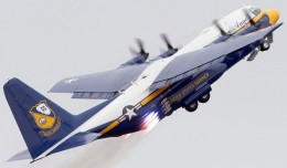 The Blue Angels C-130 named Fat Albert performs a JATO takeoff. (Photo by Manny Gonzalez)