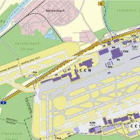 Frankfurt Am Main Airport map