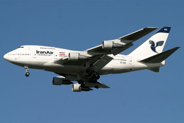 An Iran Air Boeing 747SP. (Photo by Tom Alfano)