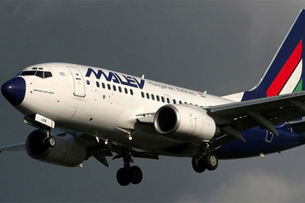 A Malev 737-600 HA-LOE and its signature blue nose on short final for Amsterdam.