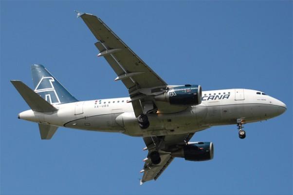 A Mexicana Airbus A318 (XA-UBX) final approach