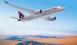 Rendering of a Qatar Airways Airbus A350XWB. (Image by Fixion/Airbus)