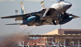 F-15 Aggressor in SU-27 Splinter Blue Camo