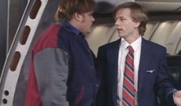 Chris Farley and David Spade in Total Bastard Airlines