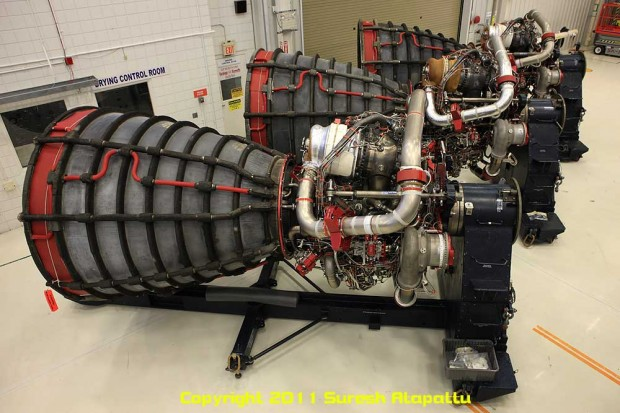 A set of three space shuttle engines that were used on a previous Discovery mission. (Photo by Suresh A. Atapattu/WWW.ATAPATTU.NET)