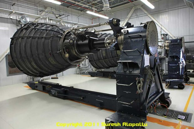 The replica engine nozzles that will be used to mimic real RS-25 engines. Note the substantial loss of mass between this replica and the previous picture's real SSME. (Photo by Suresh A. Atapattu/WWW.ATAPATTU.NET)