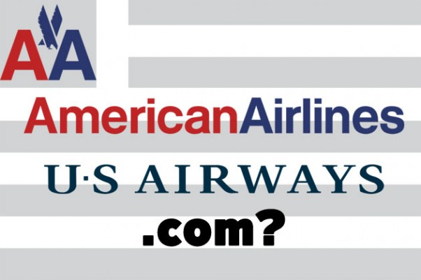 American Airlines US Airways merger domain names