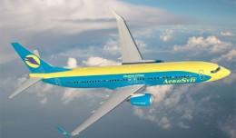 AeroSvit Boeing 737-800.