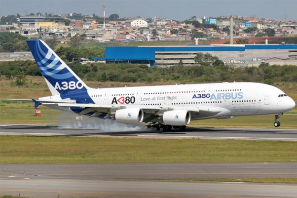 Photo of the Day: Airbus A380 demonstrator plane visits Sao Paulo. (Photo by Ediney Ribeiro)