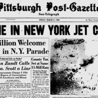 March 2, 1962 cover of the Pittsburgh Post-Gazette.