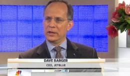 JetBlue CEO Dave Barger appeared on NBC's Today. (Screengrab from NBC)