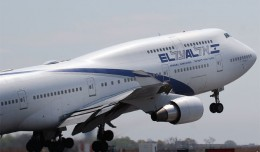 El Al Boeing 747-400 (4X-ELD) departing JFK's Runway 22R enroute to Tel Aviv. (Photo by Mario Craig)