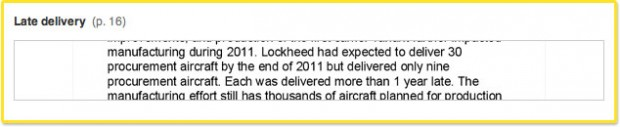 Supplier performance problems and changes from testing have caused Lockheed Martin, the plane's manufacturer, to fall behind on production: