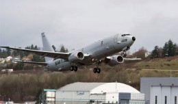 The first production Boeing P-8A Poseidon LRIP1-1 takes off from Boeing Field for Naval Air Station Jacksonville.