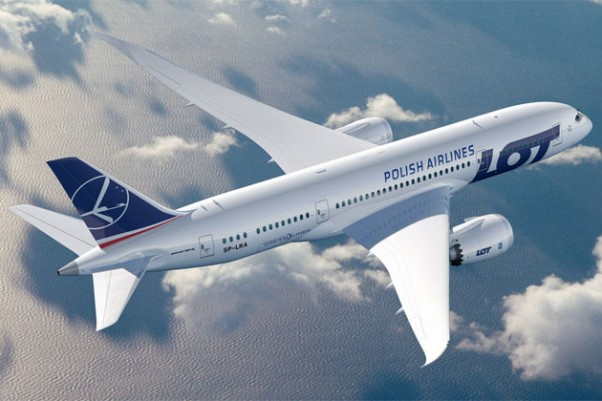 LOT will debut a new livery on its Boeing 787-8 Dreamliners. (Image by Boeing)
