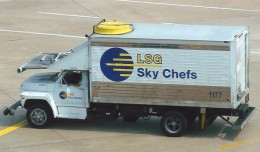 An LSG Sky Chefs truck seen at DFW in 2006