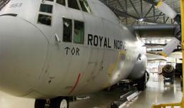 Royal Norwegian Air Force C-130 on display in Oslo