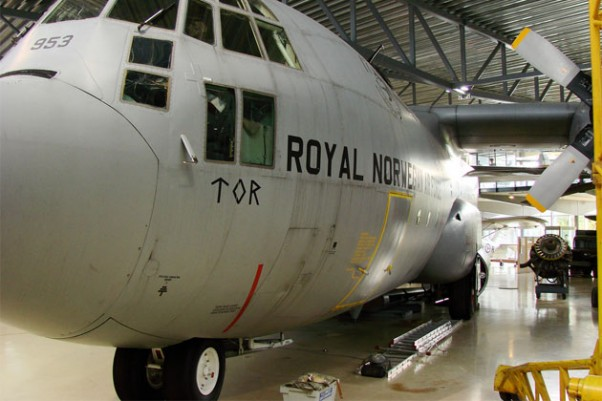 Royal Norwegian Air Force C-130 on display in Oslo