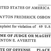 Federal Complaint against JetBlue Flight 191 pilot Clayton Osbon