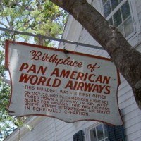 Pan Am&#039;s first office in Key West is marked by a sign
